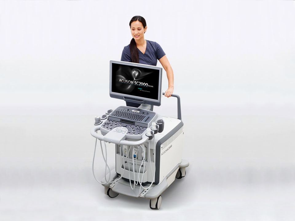 New handle makes minor adjustments easier on the Siemens Acuson SC2000 PRIME ultrasound system